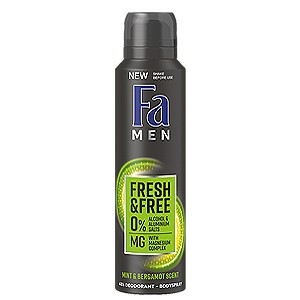 Fa Men Fresh & Free Mint & Bergamot scent 150 ml